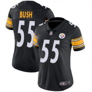 Women Steelers Devin Bush Black Jersey